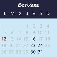 Calendario curso WordPress profesional octubre